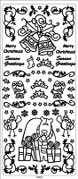 Sticker King Peel Off Stickers - Christmas (Silver)
