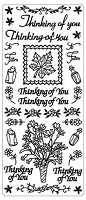 Sticker King Peel Off Stickers - Thinking of You (Gold)