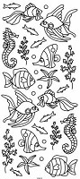 Sticker King Peel Off Stickers - Undersea (silver)
