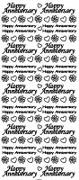 Sticker King Peel Off Stickers - Happy Anniversary (Silver)