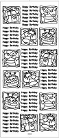 Sticker King Peel Off Stickers - Birthday Squares (Gold)