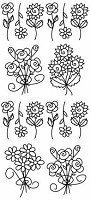 Sticker King Peel Off Stickers - Flower Bunches 1 (Gold)