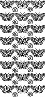 Sticker King Peel Off Stickers - Small Butterflies (Silver)