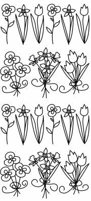 Sticker King Peel Off Stickers - Flower Bunches 2 (Silver)