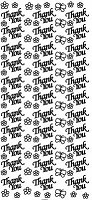Sticker King Peel Off Stickers - Thank You (Silver)