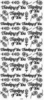 Sticker King Peel Off Stickers - Thinking of You (Silver)