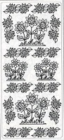 Sticker King Peel Off Stickers - Sunflowers 2 (Silver)