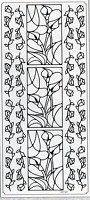 Sticker King Peel Off Stickers - Calla Lilies Stained Glass (Silver)