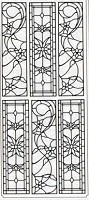 Sticker King Peel Off Stickers - Floral Stained Glass (Silver)