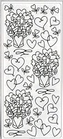 Sticker King Peel Off Stickers - Love Bouquets (Silver)