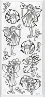 Sticker King Peel Off Stickers - Flower Fairies (Silver)