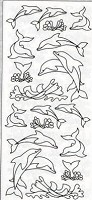 Sticker King Peel Off Stickers - Dolphins (Silver)