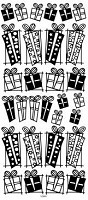Sticker King Peel Off Stickers - Presents (Silver)