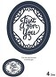 Sue Wilson Designs - Die - Expressions Collection - Ornate Oval Just For You