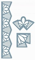 Sue Wilson Designs - Die - Indian Ocean Collection - Border and Corners