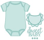 Sue Wilson Designs - Die - New Arrival Collection - Baby Onesie