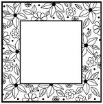 Sue Wilson Designs - Cling Mounted Stamp - Floral Doodle Square