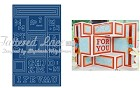 "Tattered Lace - Dies - Shutter Card (6.75"" x 11.3"") (requires large format machine)"