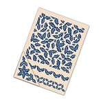 "*PRE-ORDER* Tattered Lace - Embossing Folder Set - Holly (set of 4) (7.75"")"