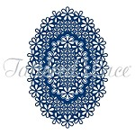 Tattered Lace - Dies - Essentials Laced Edge Oval