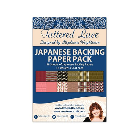 Tattered Lace - Paper Pack - Japanese Backing Paper