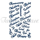 Tattered Lace - Dies - Anniversary Words