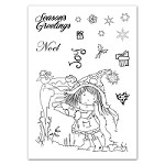 Tattered Lace - Tatty Twinkle clear stamps - Xmas Post