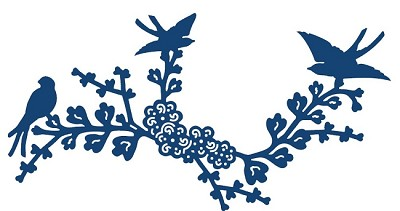 Tattered Lace - Dies - Oriental Blue Bird