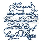 Tattered Lace - Dies - Loving Wishes