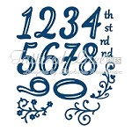 Tattered Lace - Dies - Huggables Numbers