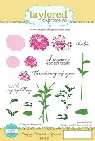 Taylored Expressions - Cling Stamp Set - Zinnias