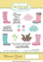 Taylored Expressions - Cling Stamp Set - Blooming Boots