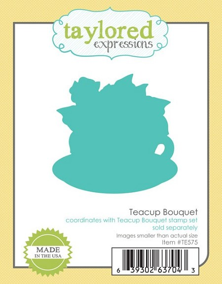 Taylored Expressions - Cutting Die - Teacup Bouquet Die