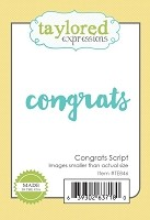 Taylored Expressions - Cutting Die - Congrats Script