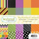 Taylored Expressions - 6x6 Paper Pad - Playful Patterns Haunted