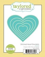 Taylored Expressions - Cutting Die - Stitched Heart Stacklets