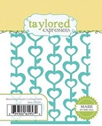 Taylored Expressions - Die - Blooming Hearts Cutting Plate
