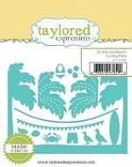 Taylored Expressions - Cutting Die - On the Line Beach Cutting Plate
