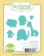 Taylored Expressions - Cutting Die - Hippo Birdy Dies