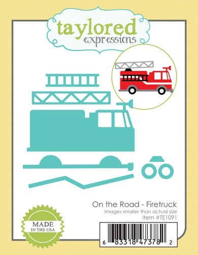 Taylored Expressions - Cutting Die - On the Road Fire Truck