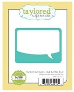 Taylored Expressions - Cutting Die - Pockets & Pages - Bubble Out