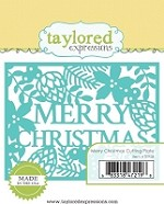Taylored Expressions - Cutting Die - Merry Christmas Cutting Plate