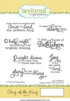 Taylored Expressions - Cling Mounted Rubber Stamp - Sing of the King