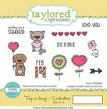 **Pre-Order** Taylored Expressions - Cling Mounted Rubber Stamp - Tag-a-long Valentine