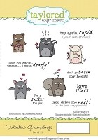 Taylored Expressions - Cling Mounted Rubber Stamp - Valentine Grumplings
