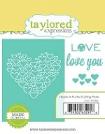 Taylored Expressions - Cutting Die - Hearts A Flutter Cutting Plate