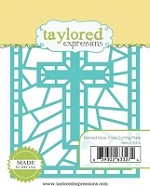 Taylored Expressions - Cutting Die - Stained Glass Cross Cutting Plate