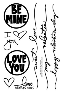 Technique Tuesday - Clear Stamp - Be Mine by Ali Edwards