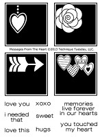 Technique Tuesday Clear Stamp - Messages From The Heart