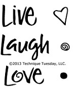 Technique Tuesday Clear Stamp - Live Laugh Love
